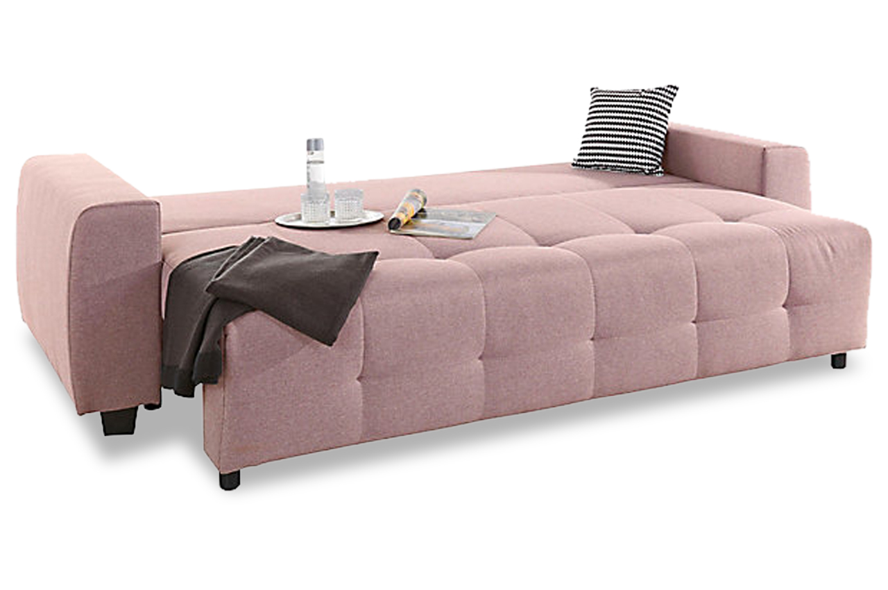 collection ab 3er sofa bella mit schlaffunktion pink. Black Bedroom Furniture Sets. Home Design Ideas
