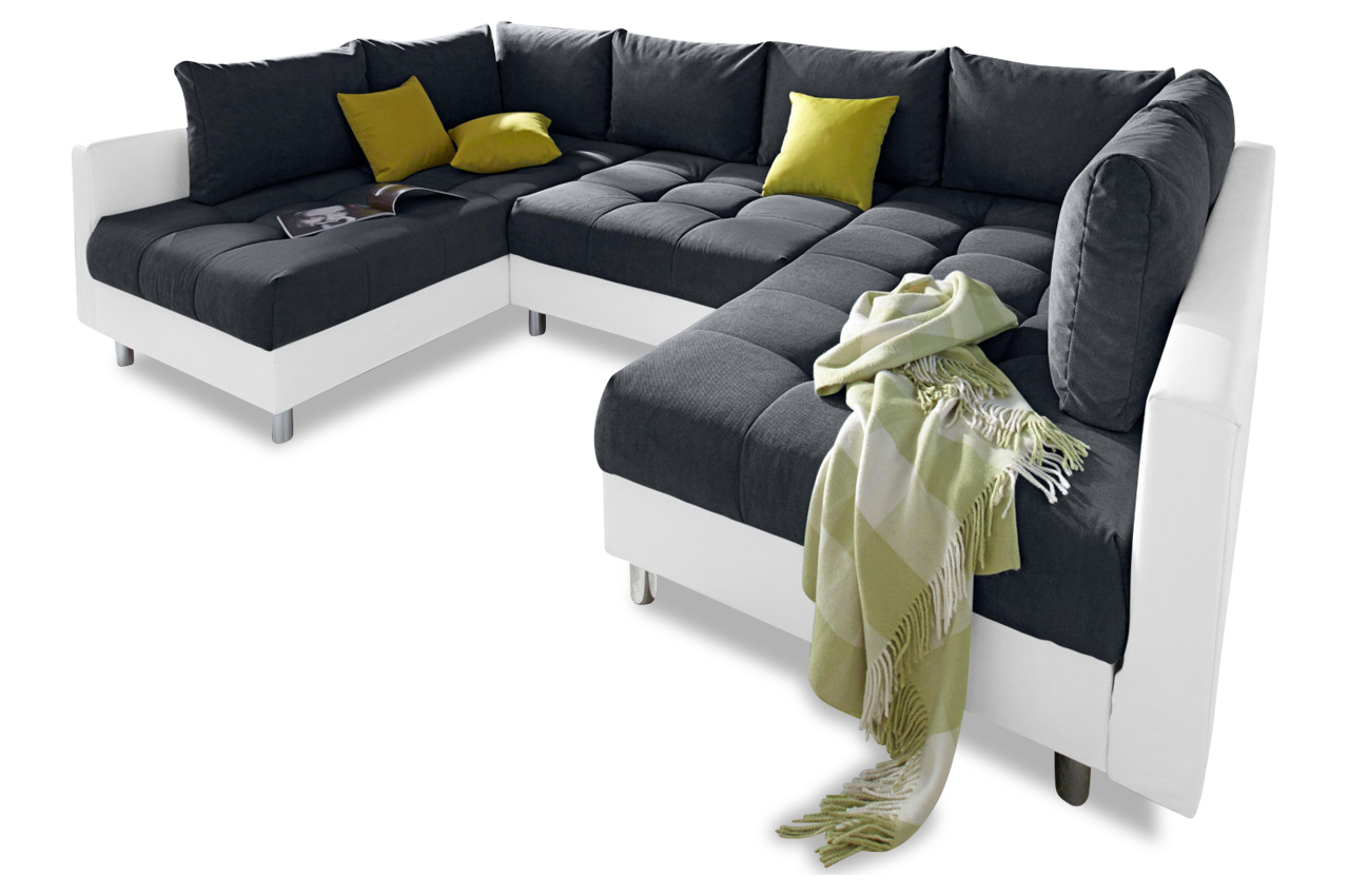 Collection Ab Wohnlandschaft Antonia Mit Hocker Anthrazit Sofas