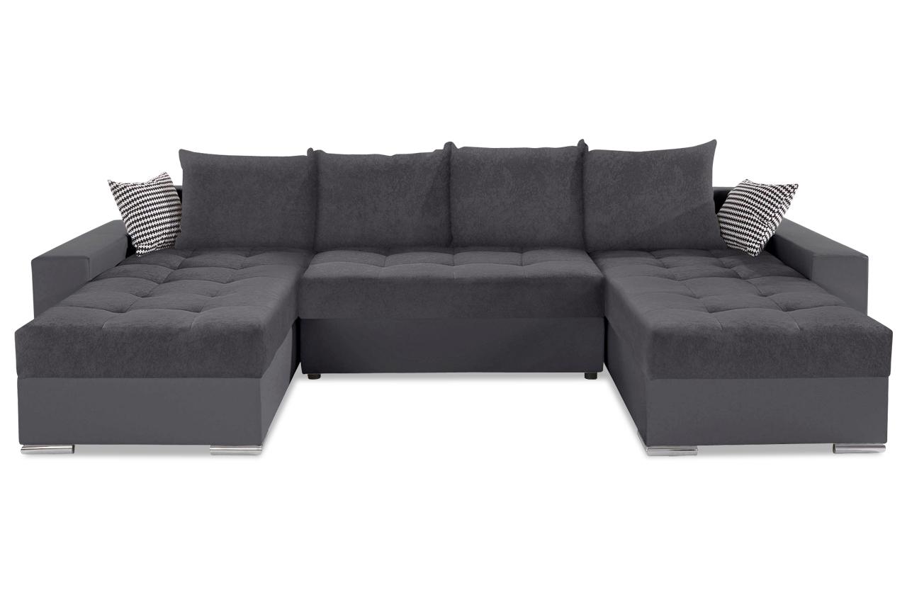 collection ab wohnlandschaft josy 2 links grau sofas zum halben preis. Black Bedroom Furniture Sets. Home Design Ideas
