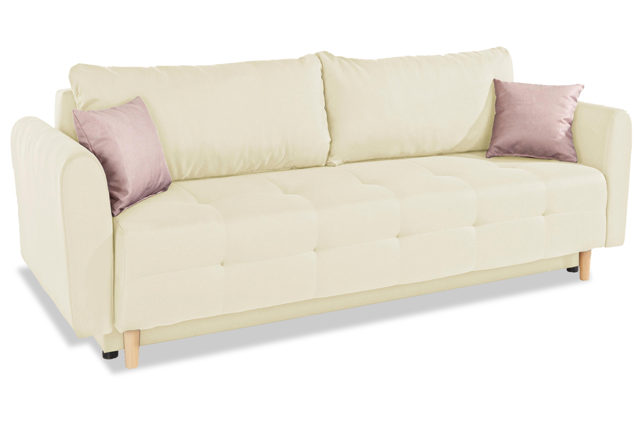 Collection ab 3er sofa nordic mit schlaffunktion creme for 3er sofa mit schlaffunktion