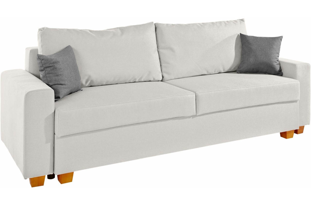 Collection AB 3er-Sofa Merano - mit Schlaffunktion - Creme mit ...