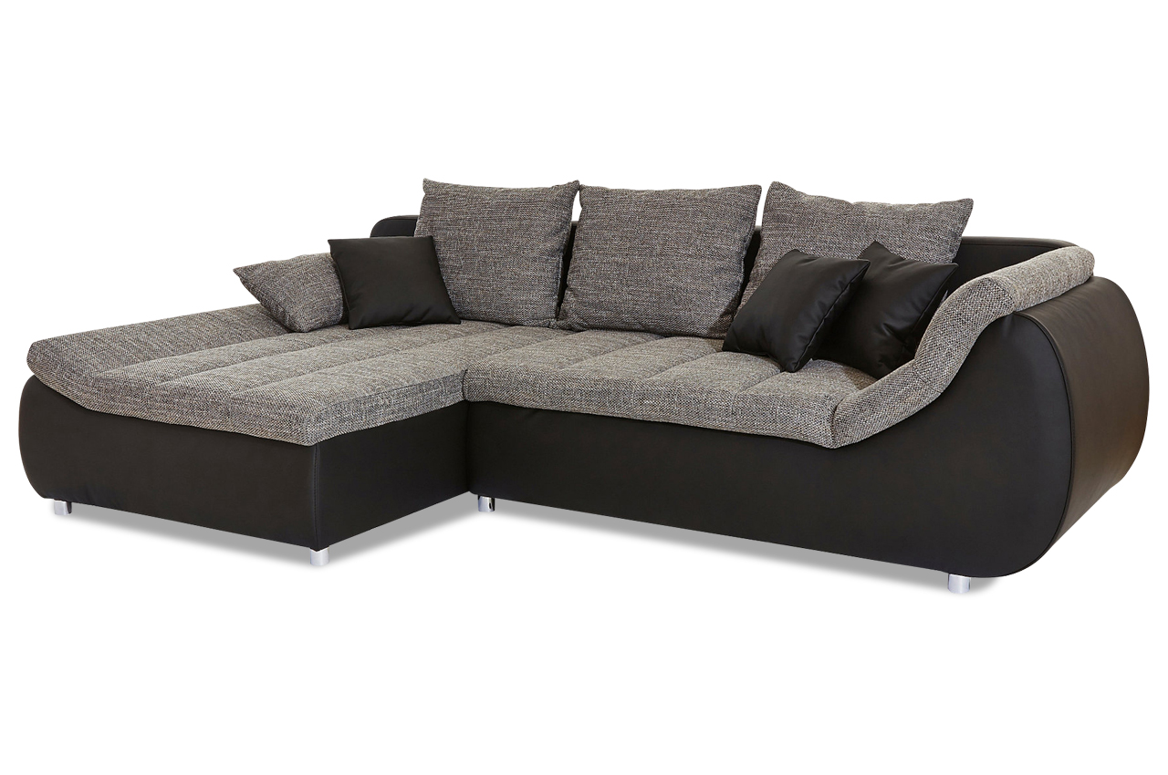 ecksofa imola mit schlaffunktion grau sofas zum. Black Bedroom Furniture Sets. Home Design Ideas