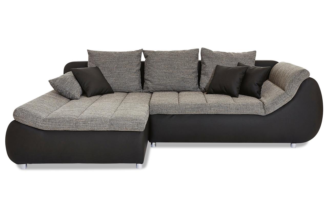 Ecksofa imola mit schlaffunktion grau sofas zum for Wohnlandschaft imola