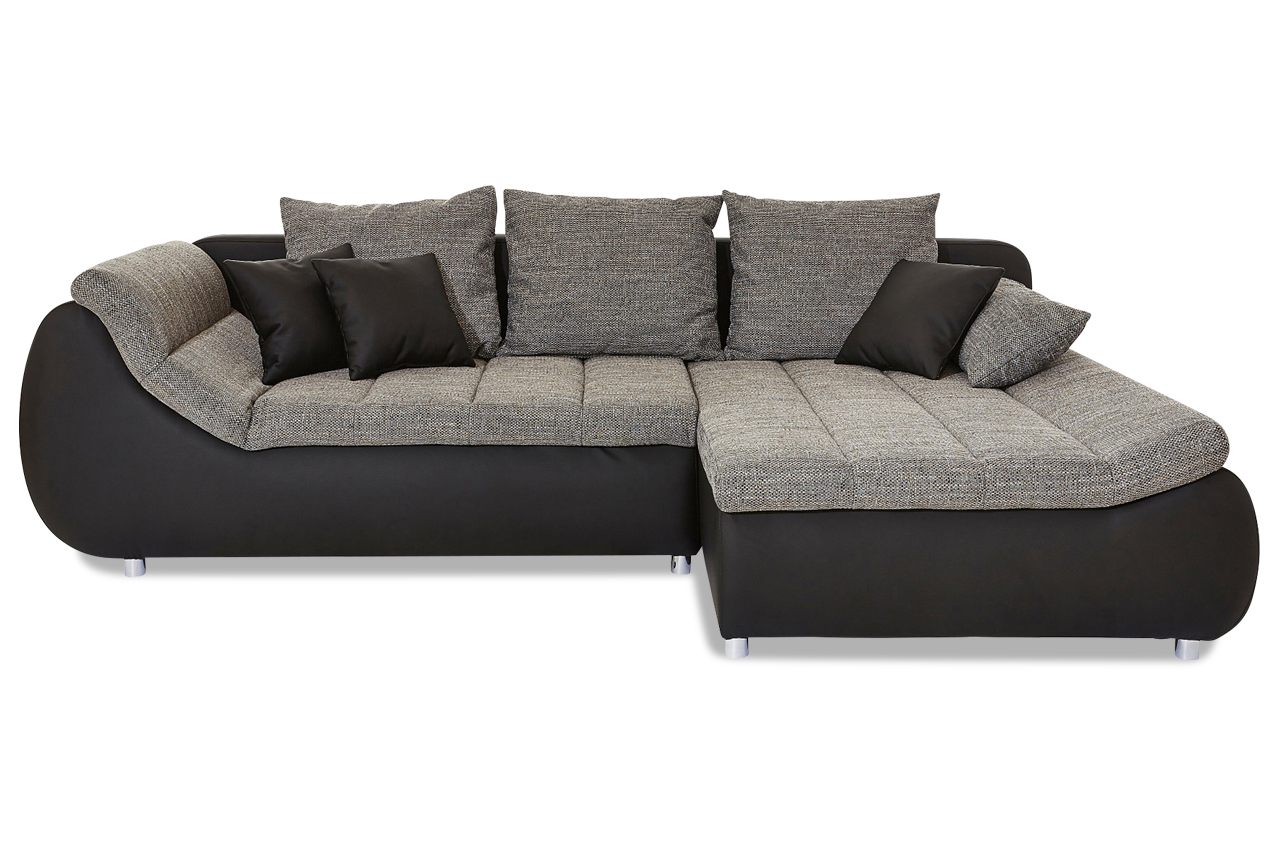 ecksofa imola mit schlaffunktion grau ecksofas. Black Bedroom Furniture Sets. Home Design Ideas