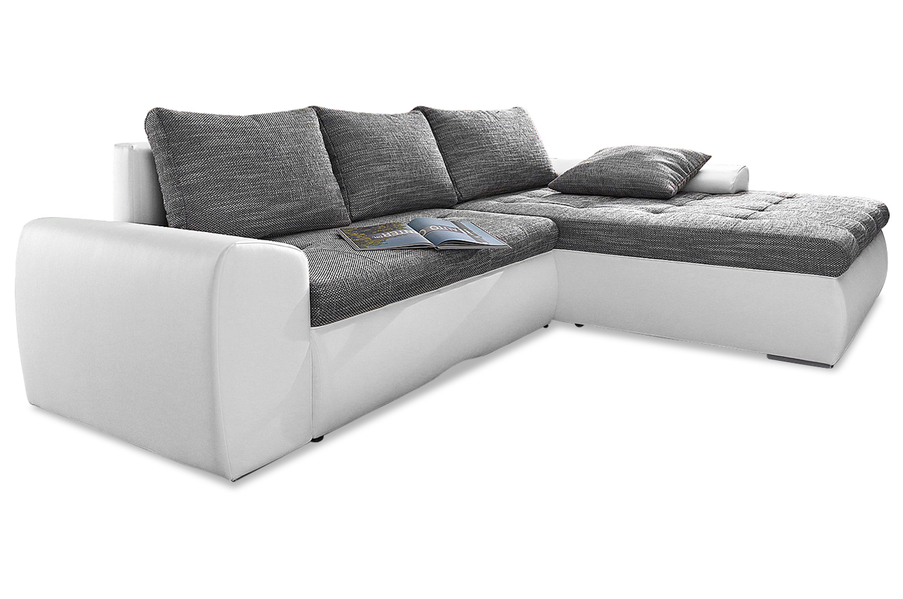 ecksofa cecile xl mit schlaffunktion weiss sofas zum. Black Bedroom Furniture Sets. Home Design Ideas