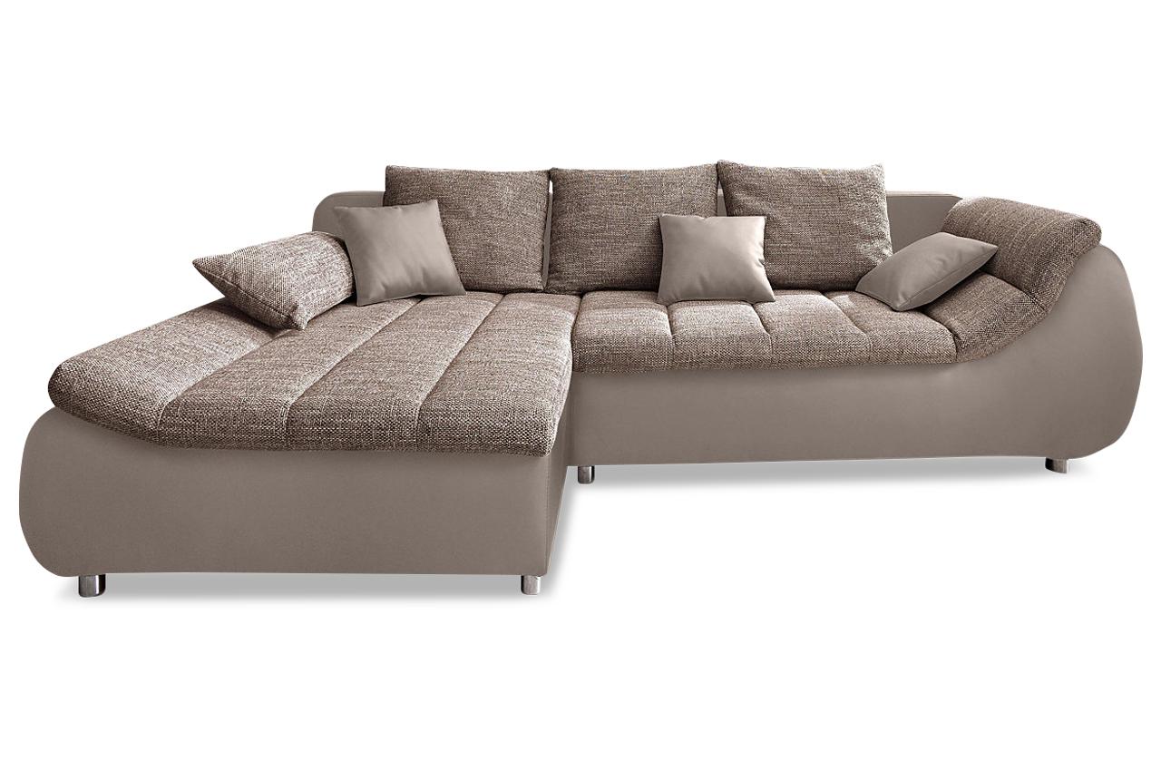 Ecksofa imola braun sofas zum halben preis for Wohnlandschaft imola