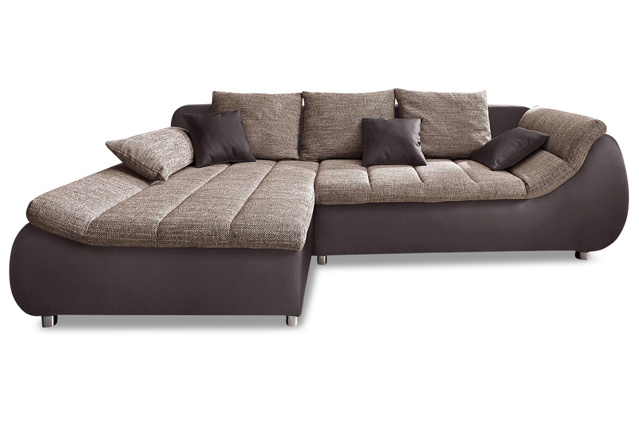 ecksofa imola mit schlaffunktion braun sofas zum. Black Bedroom Furniture Sets. Home Design Ideas