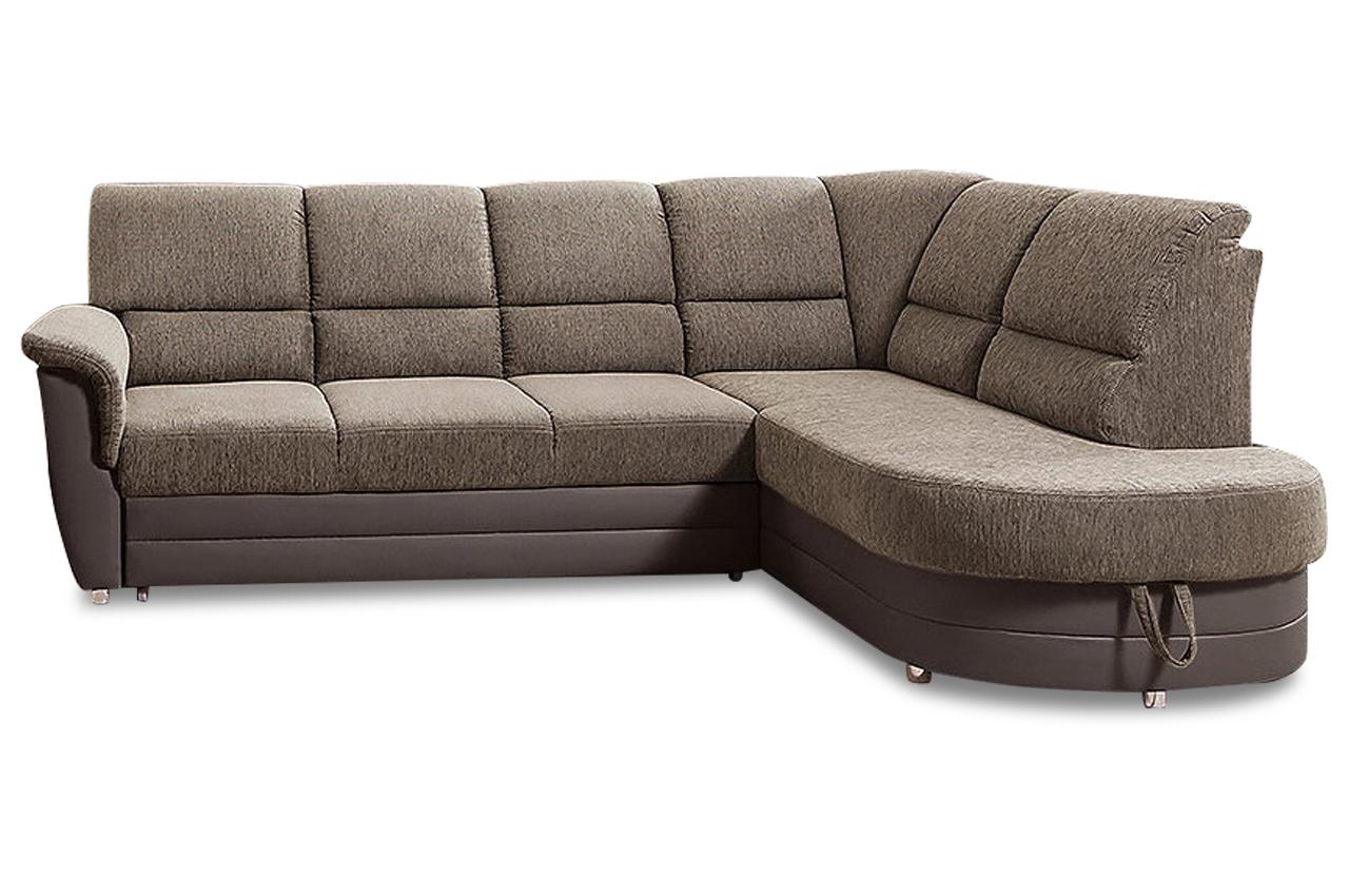polsterecke monti mit bett und bettkasten sofa couch. Black Bedroom Furniture Sets. Home Design Ideas