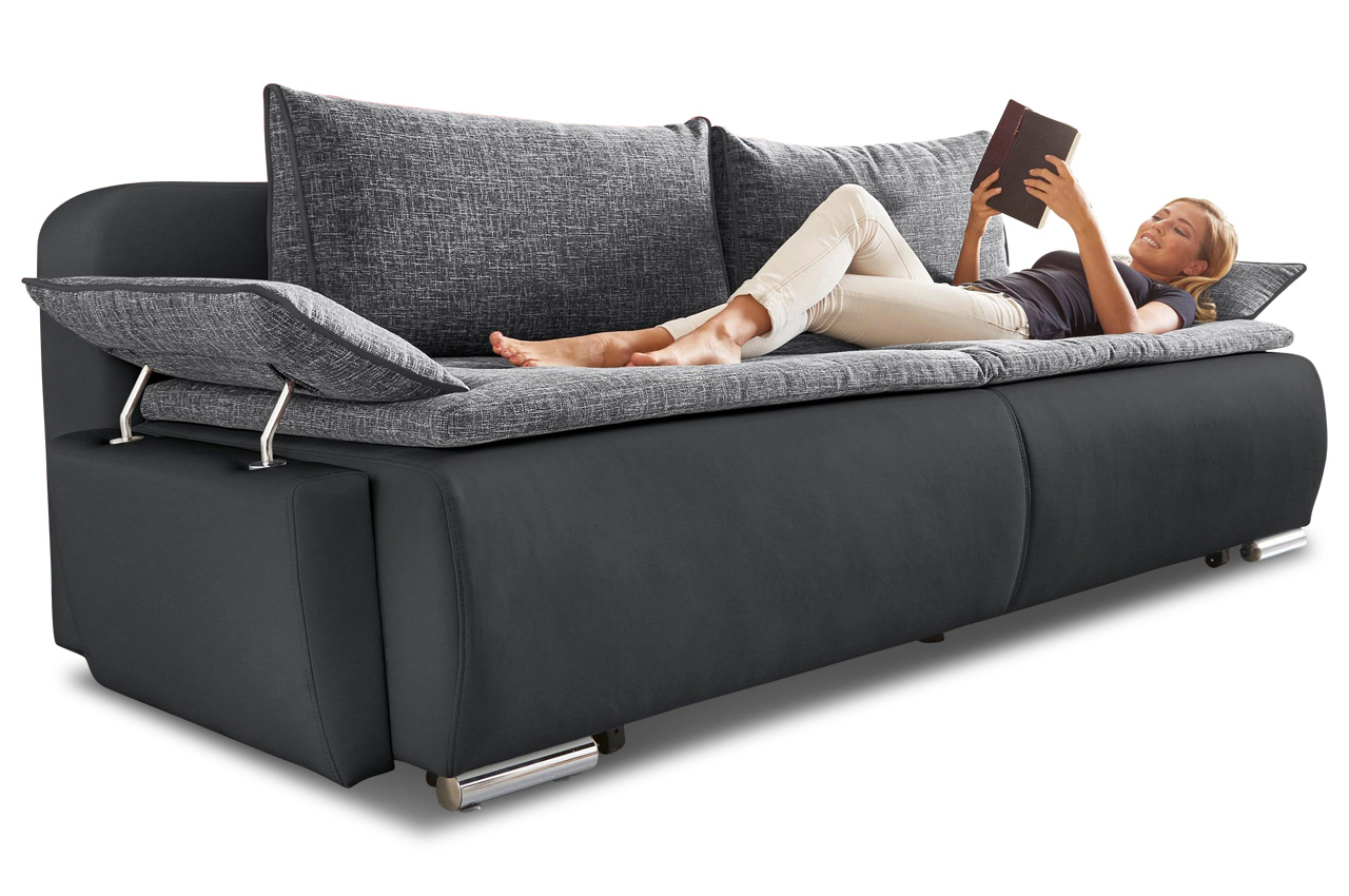 collection ab 3er sofa luca mit schlaffunktion. Black Bedroom Furniture Sets. Home Design Ideas