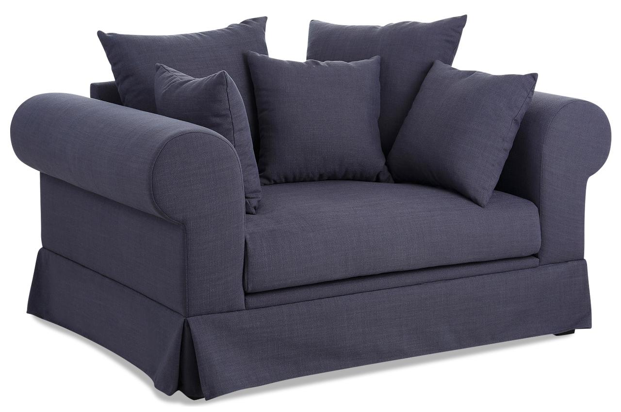 Stolmar bigsessel xxl palmina blau sofas zum halben preis for Xxl sessel blau