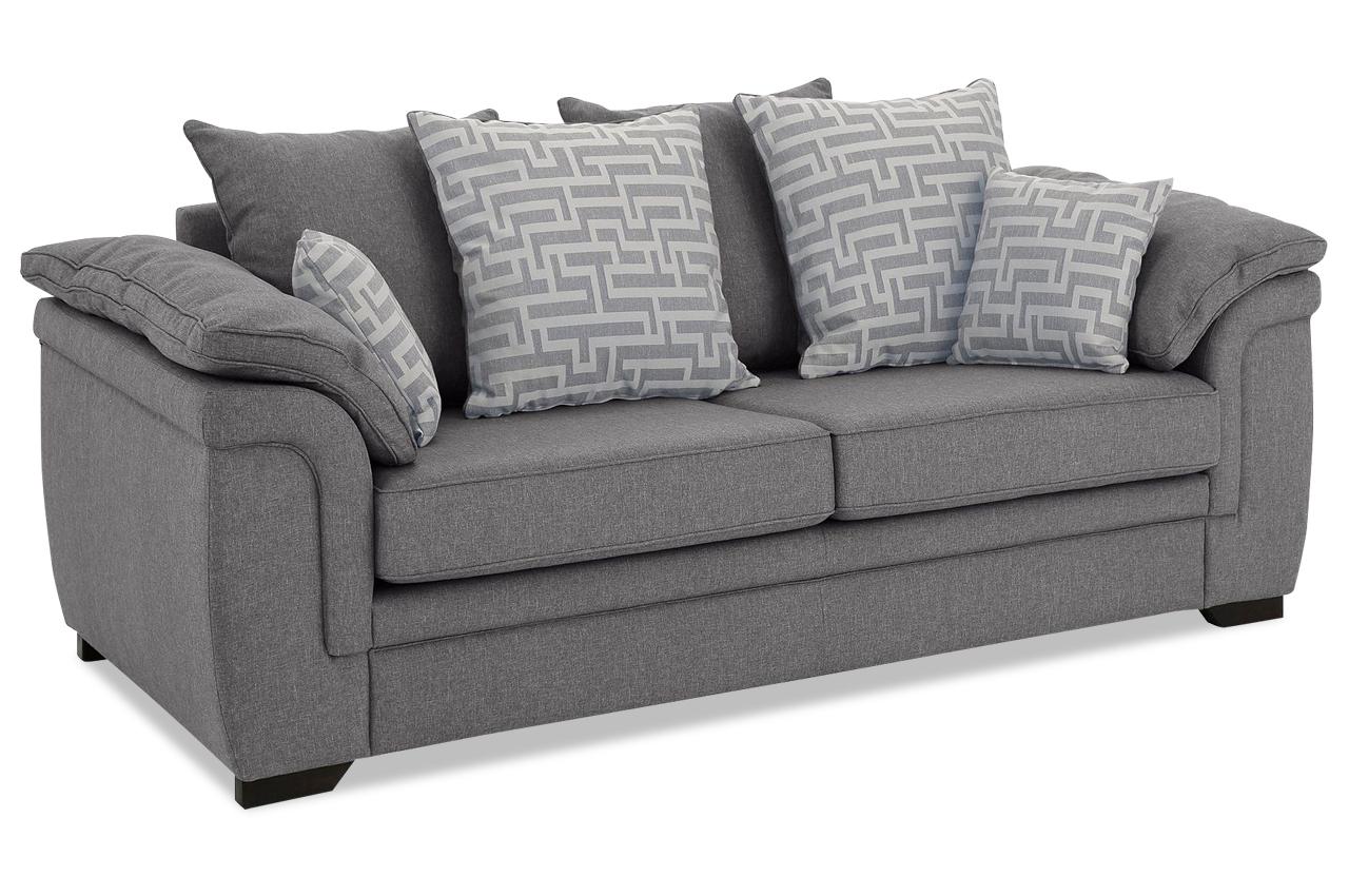 stolmar 3er sofa sierra grau sofas zum halben preis. Black Bedroom Furniture Sets. Home Design Ideas