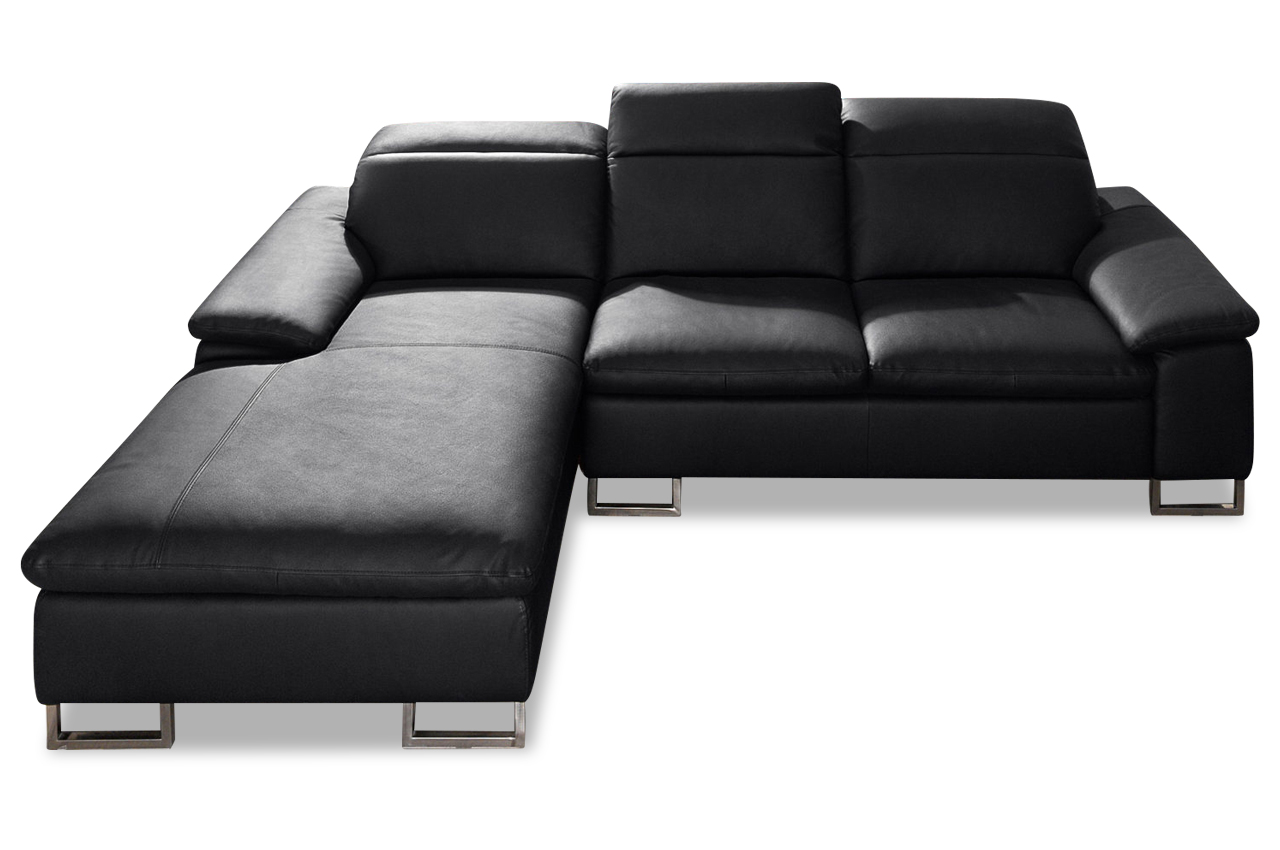 calia italia leder ecksofa rom schwarz sofas zum halben preis. Black Bedroom Furniture Sets. Home Design Ideas