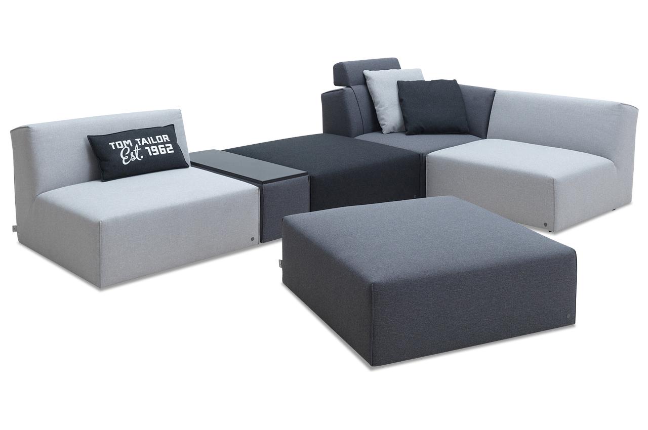 tom tailor wohnlandschaft elements wls gr grau sofa couch ecksofa ebay. Black Bedroom Furniture Sets. Home Design Ideas