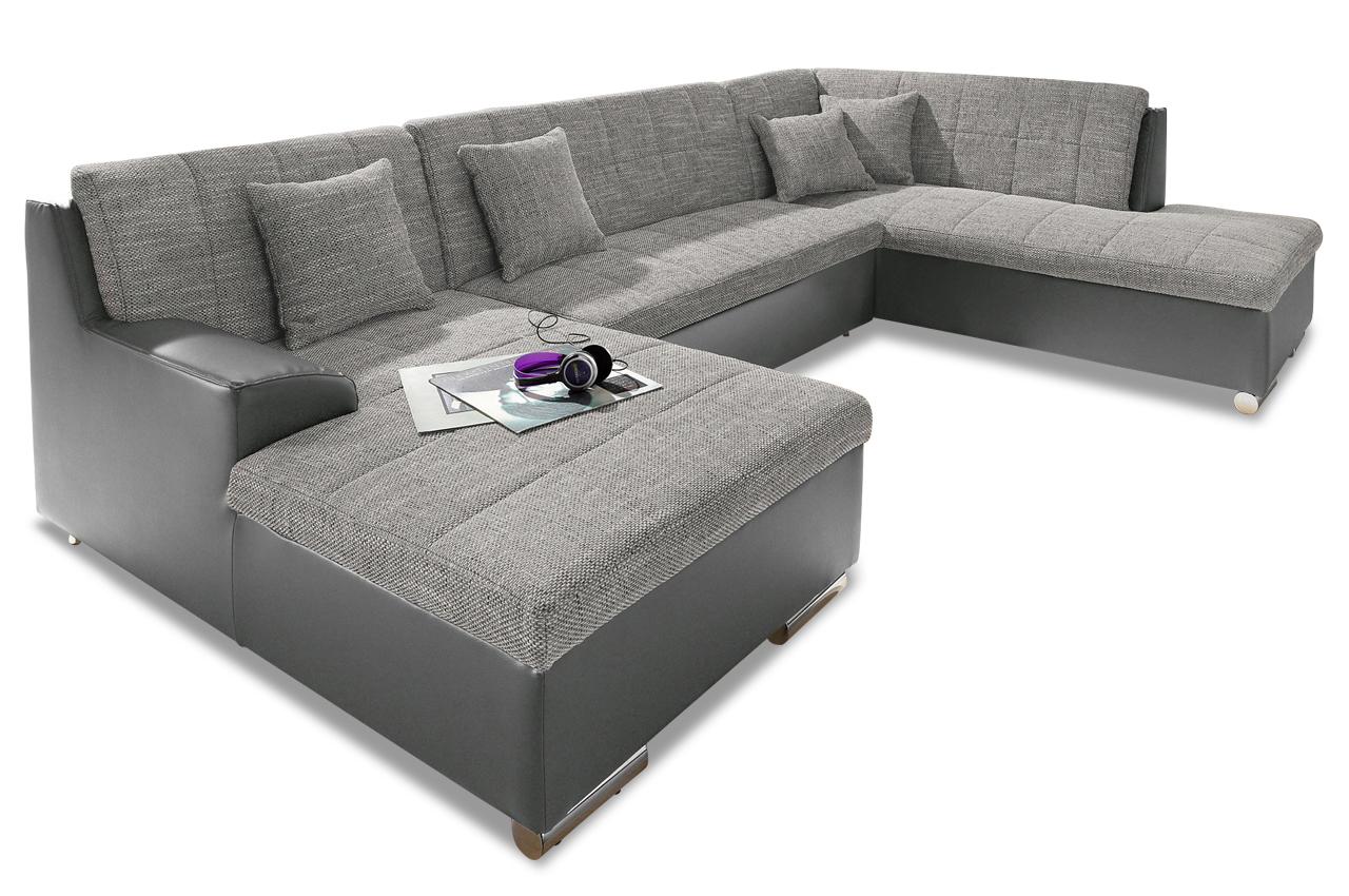 wohnlandschaft jump grau sofas zum halben preis. Black Bedroom Furniture Sets. Home Design Ideas