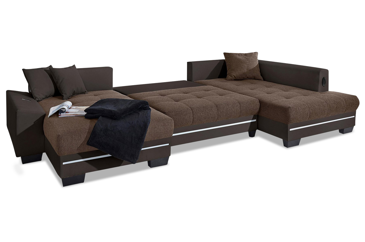 nova via wohnlandschaft nikita mit led sound und. Black Bedroom Furniture Sets. Home Design Ideas