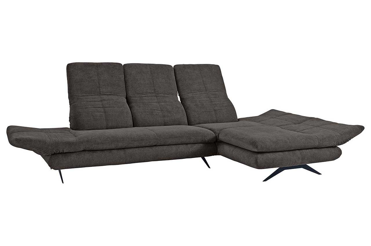Sofa L-Form Milano rechts - Grau mit Federkern   Sofas zum ...