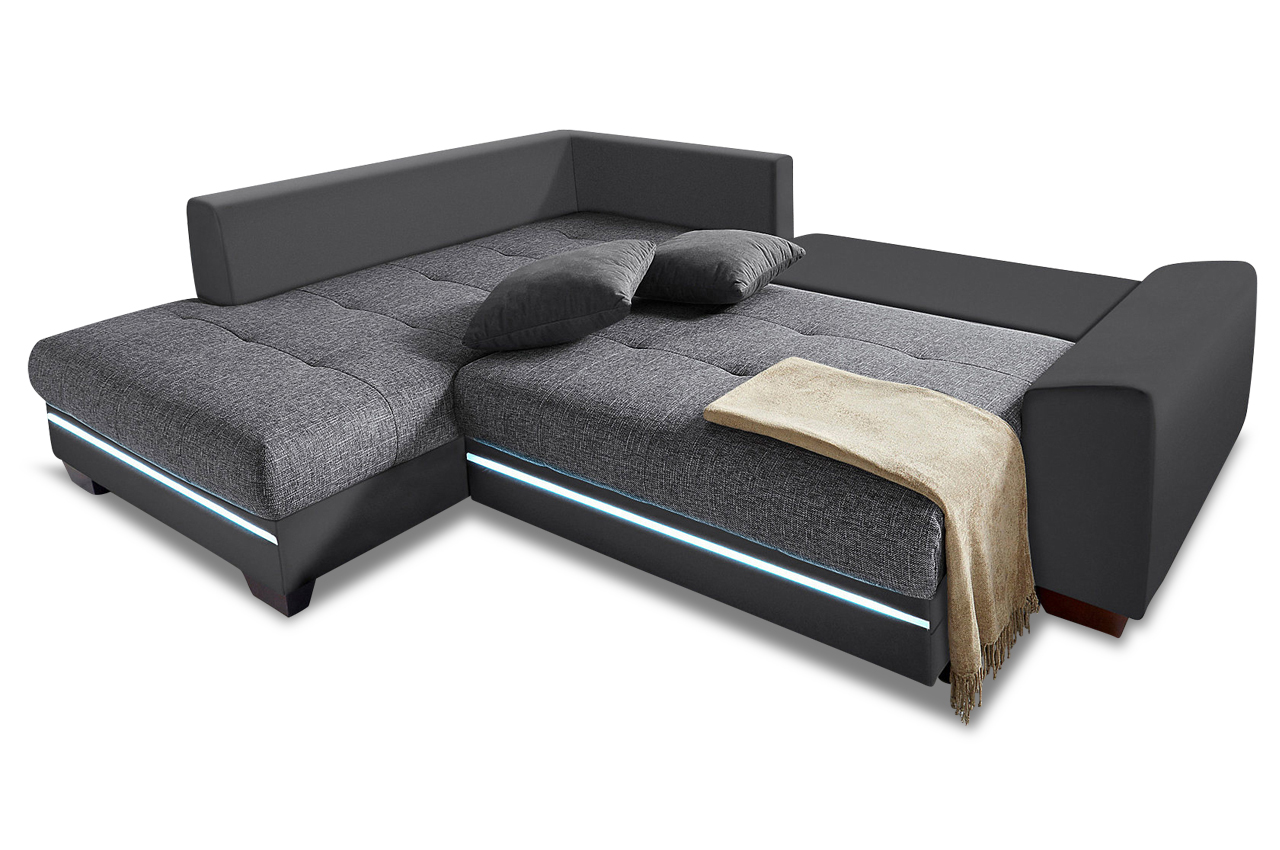 Polsterecke nikita mit bett led und sound sofas zum for Ecksofa xl nikita