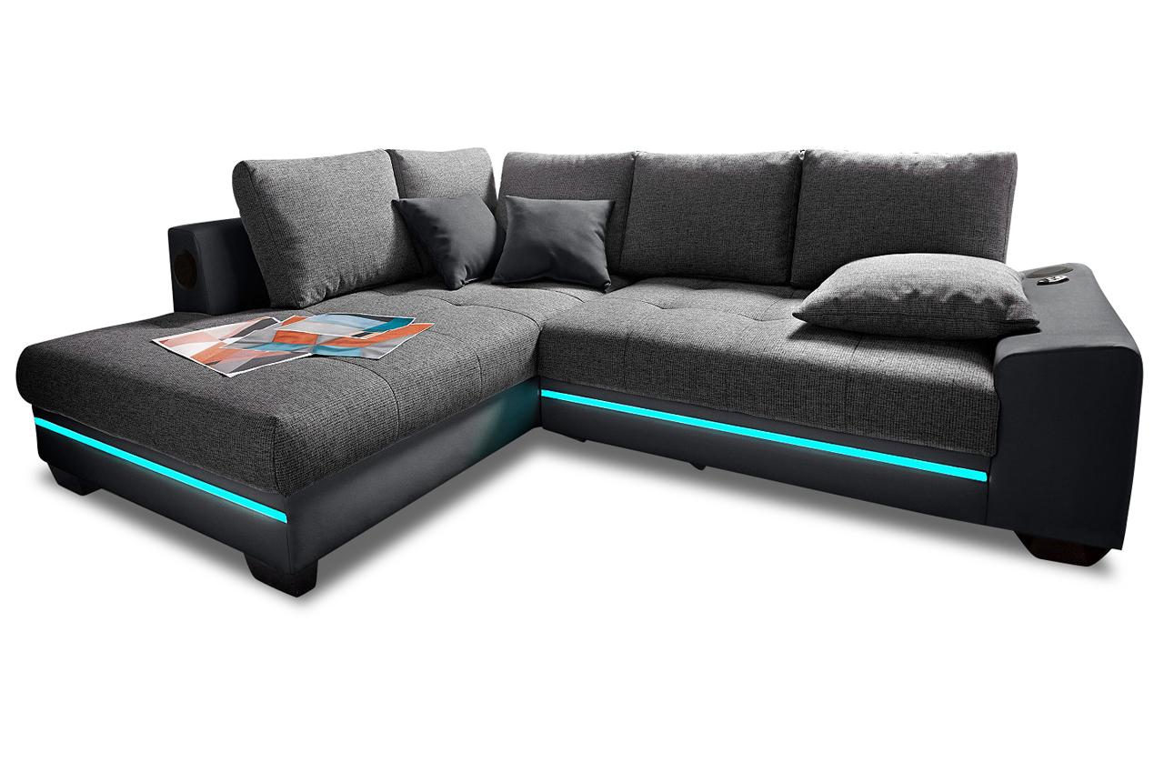 polsterecke nikita mit led und sound sofas zum halben preis. Black Bedroom Furniture Sets. Home Design Ideas