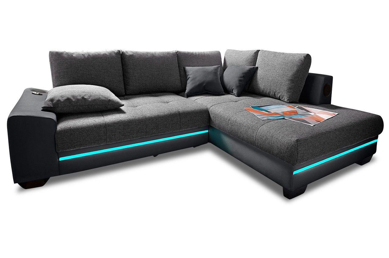 nova via ecksofa xl nikita mit led anthrazit sofas