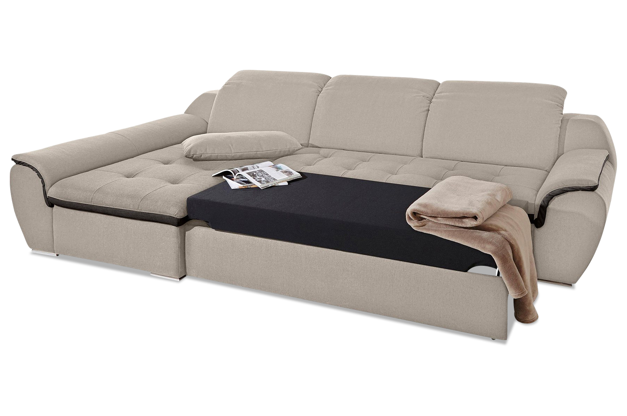 Ecksofa banjo mit schlaffunktion creme sofa couch for Ecksofa ebay