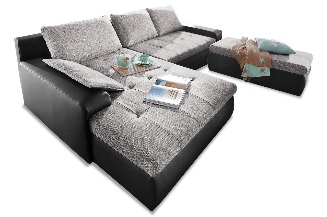 ecksofa candy xxl mit schlaffunktion schwarz sofas zum halben preis. Black Bedroom Furniture Sets. Home Design Ideas