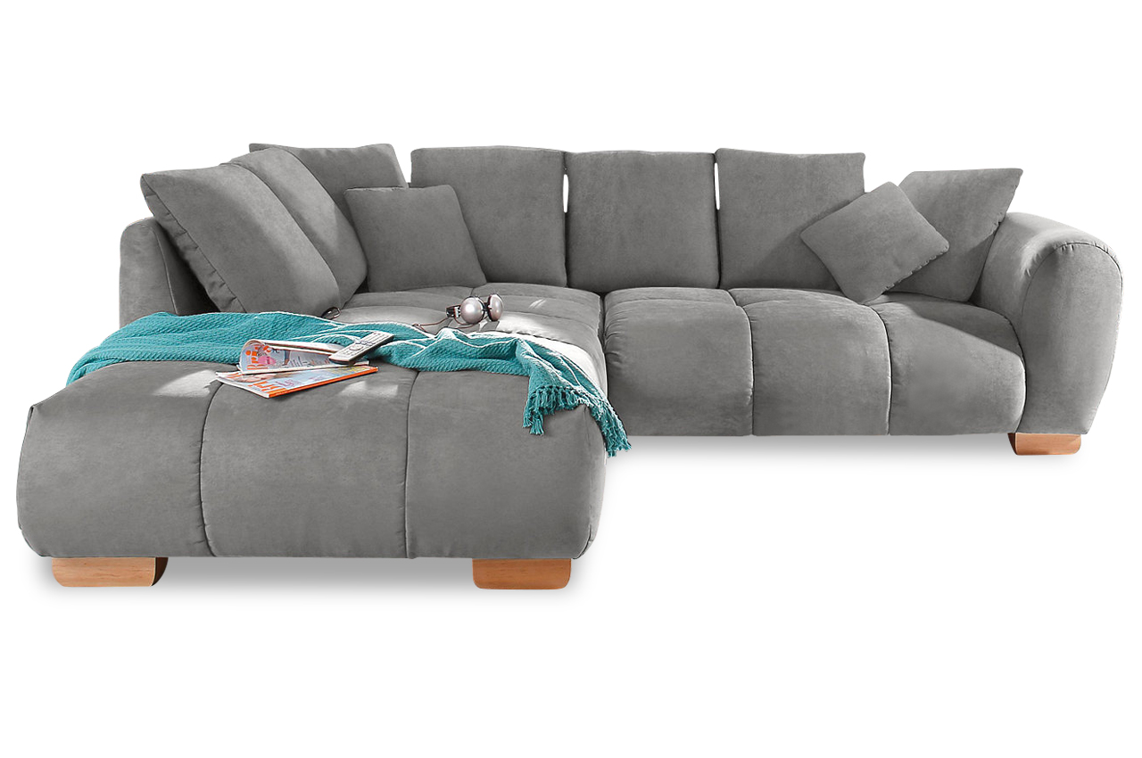 nova via ecksofa xl indianapolis grau sofa couch ecksofa ebay. Black Bedroom Furniture Sets. Home Design Ideas
