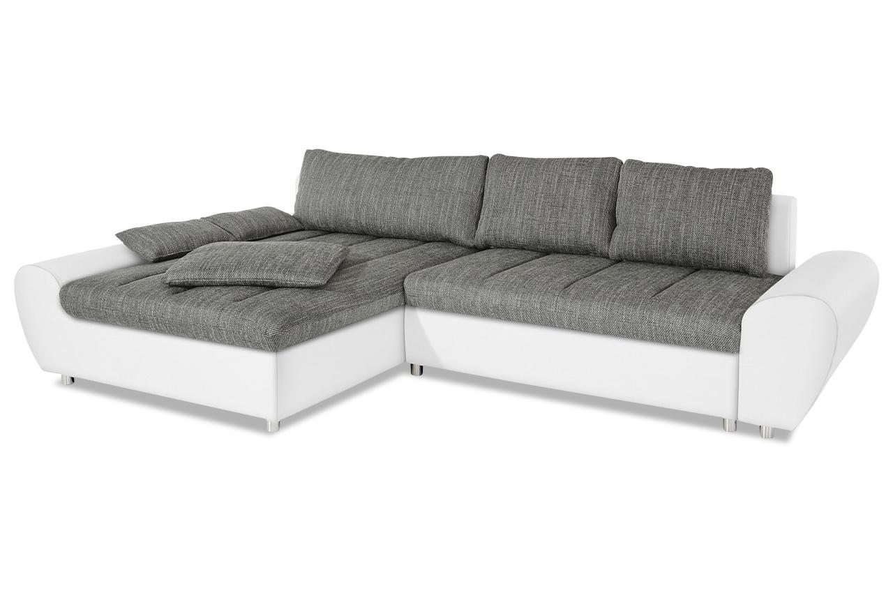 Ecksofa mit schlaffunktion weiß  Sit&More Ecksofa Bandos XXL - mit Schlaffunktion - Grau | Sofas ...