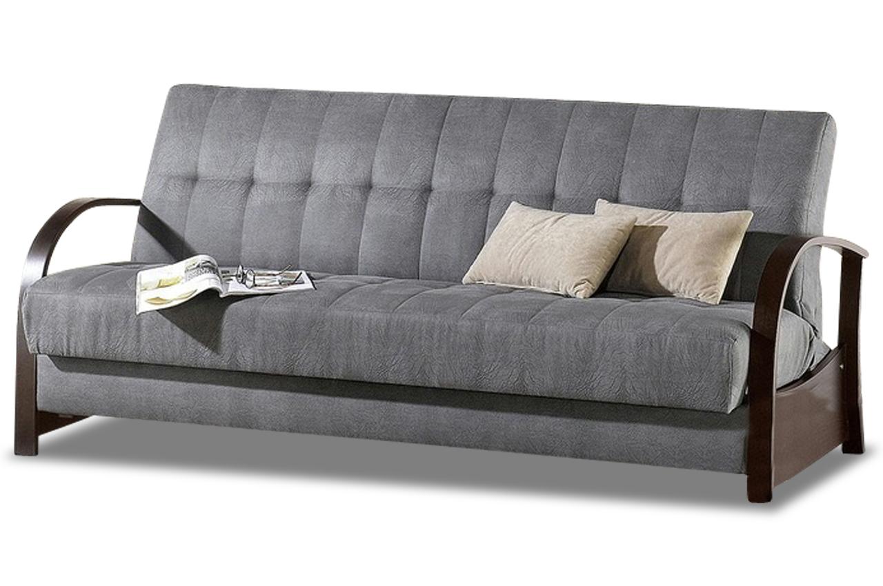 Furntrade 3er Sofa Leo mit Schlaffunktion Grau