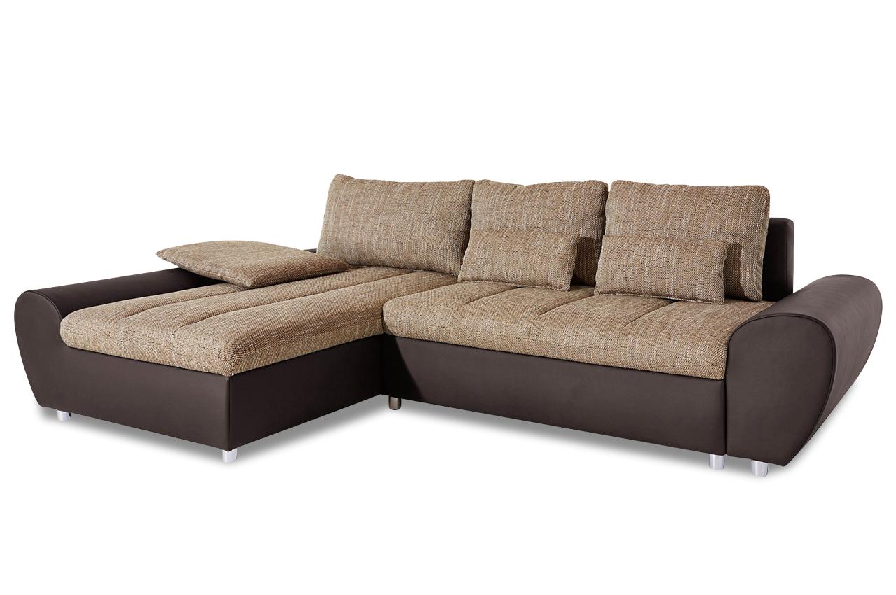 sit more ecksofa bandos xxl mit schlaffunktion braun. Black Bedroom Furniture Sets. Home Design Ideas
