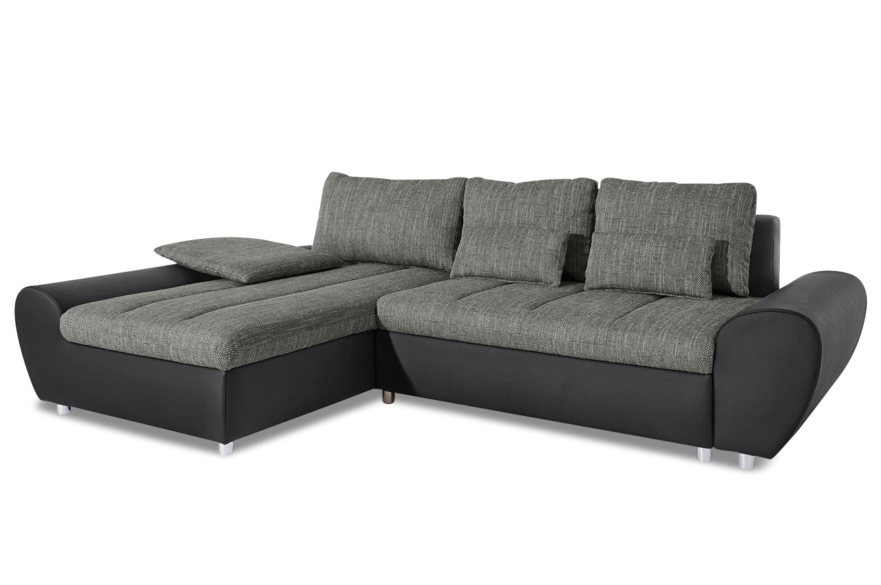 sit more ecksofa bandos xxl mit schlaffunktion grau sofas zum halben preis. Black Bedroom Furniture Sets. Home Design Ideas