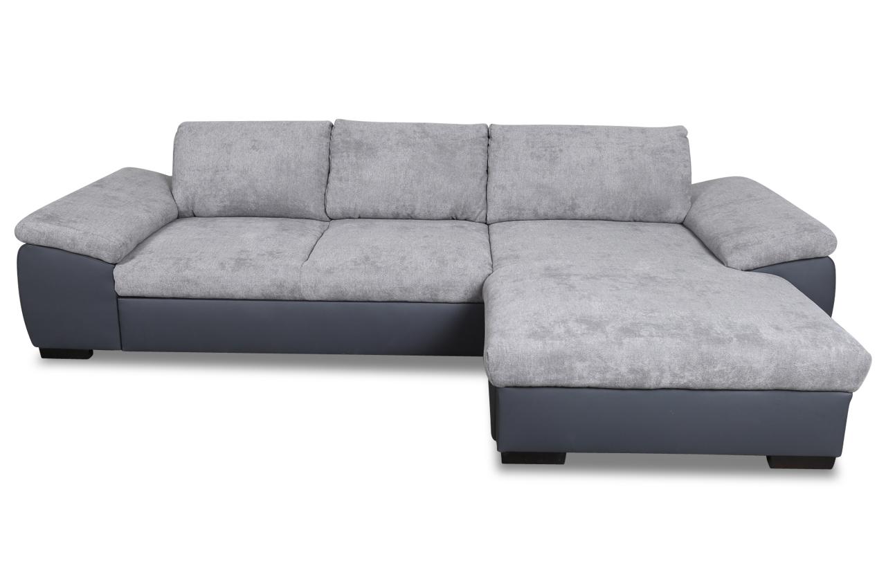 Sofa L-Form Dover rechts - mit Schlaffunktion - Anthrazit ...