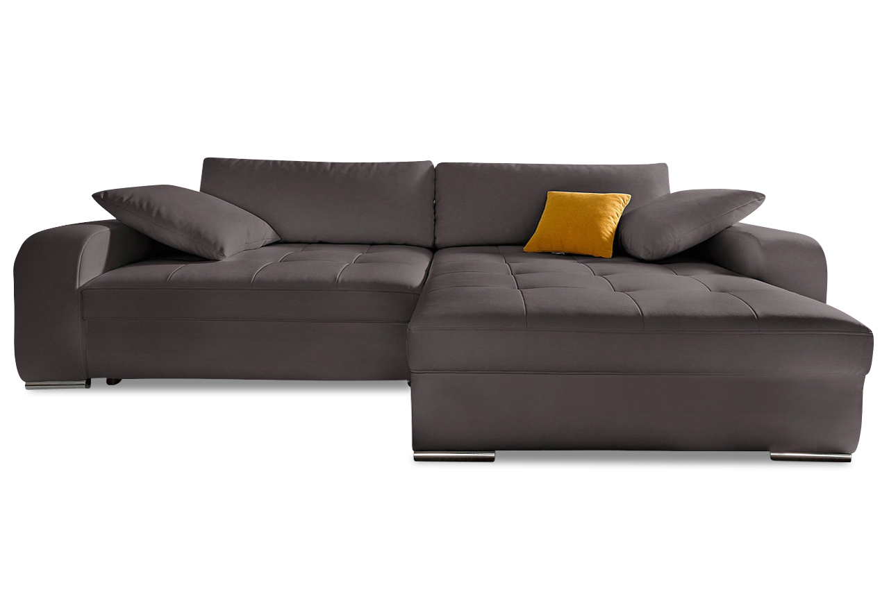 nova via ecksofa heaven mit schlaffunktion braun sofas zum halben preis. Black Bedroom Furniture Sets. Home Design Ideas