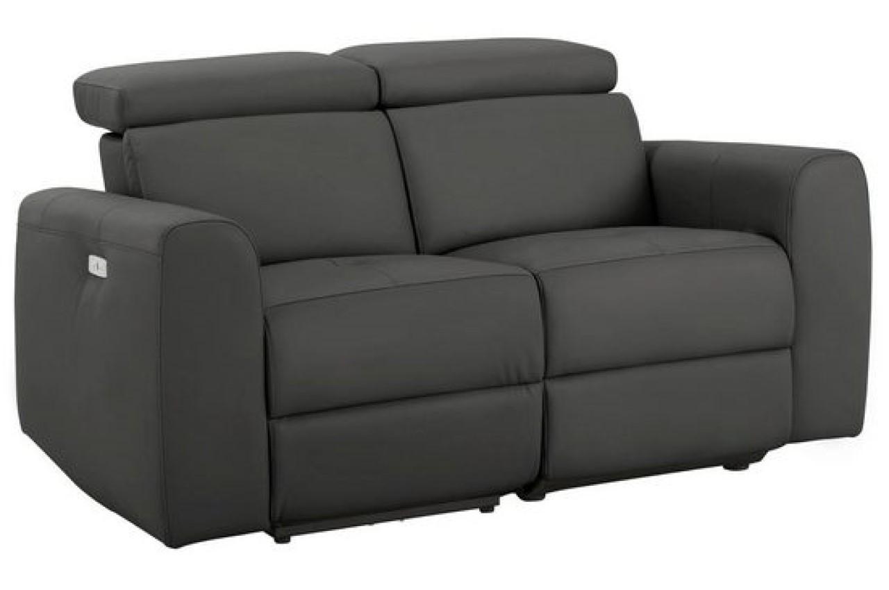 Leder 2er Sofa Mit Relax Grau Sofas Zum Halben Preis