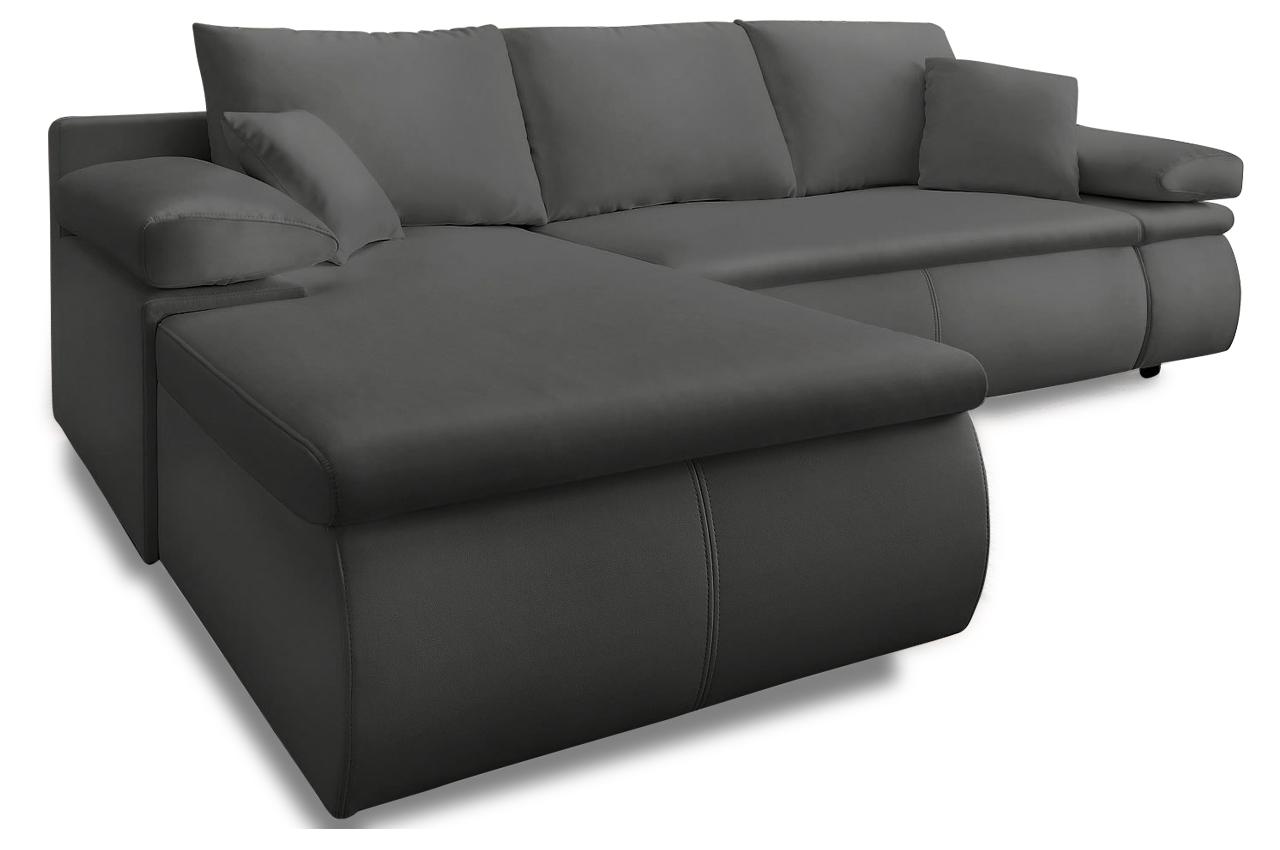 Polsterecke bowie mit bett stoff sofa couch ecksofa ebay for Sofa bett kombination