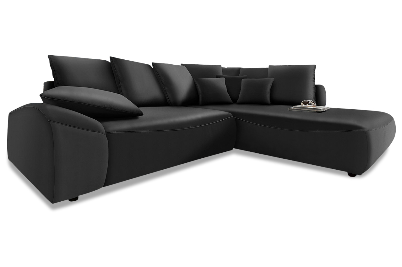 Polsterecke daytona mit bett kunstleder sofa couch for Sofa bett kombination