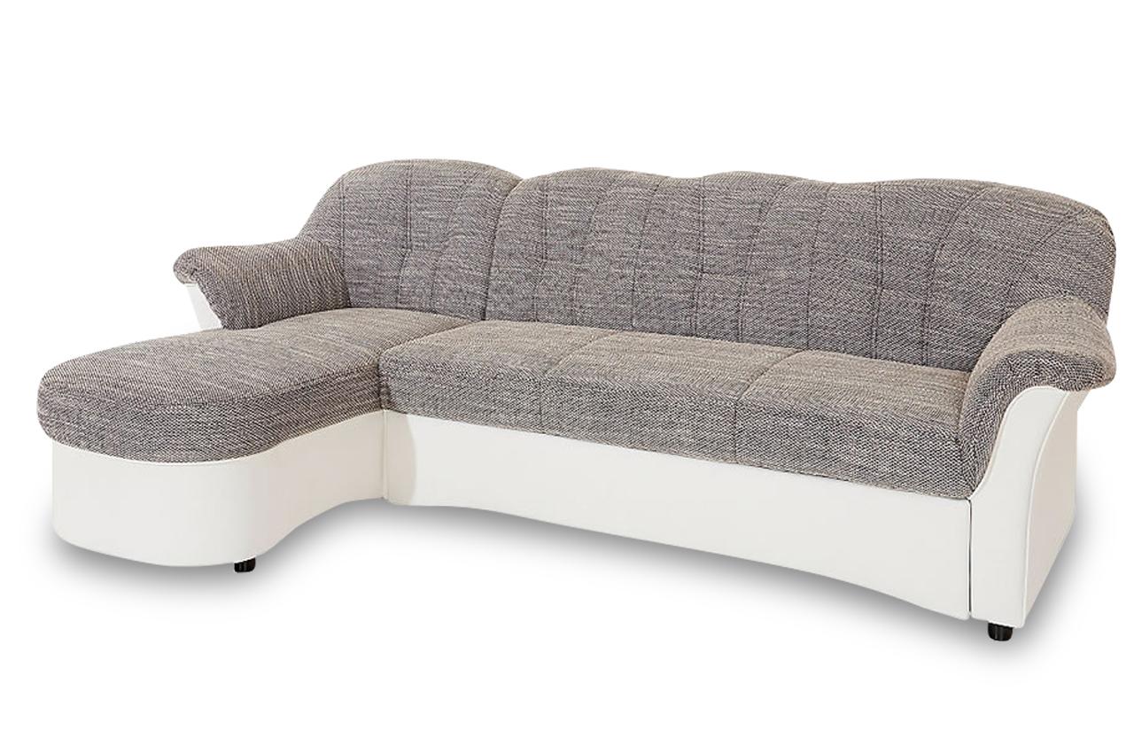 ecksofa flores mit schlaffunktion grau sofas zum. Black Bedroom Furniture Sets. Home Design Ideas