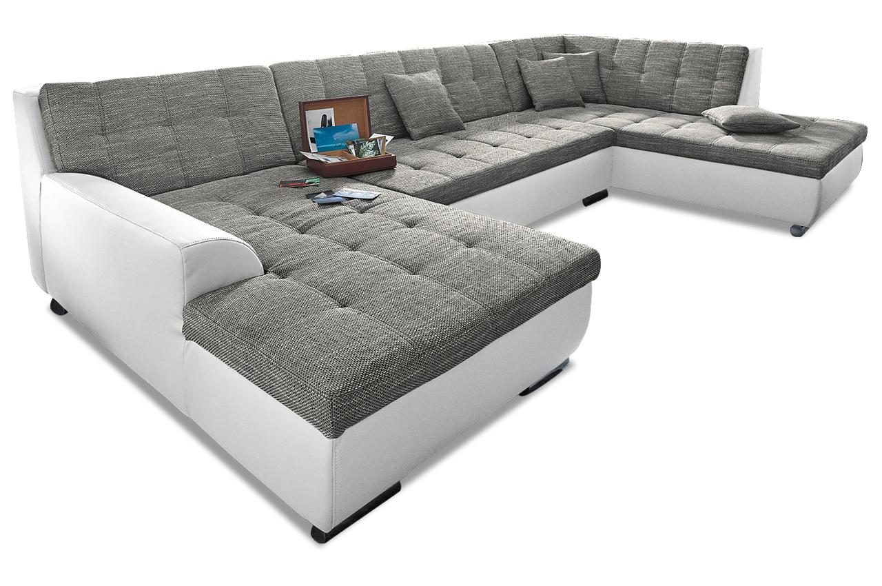 wohnlandschaft treviso mit schlaffunktion grau sofas zum halben preis. Black Bedroom Furniture Sets. Home Design Ideas