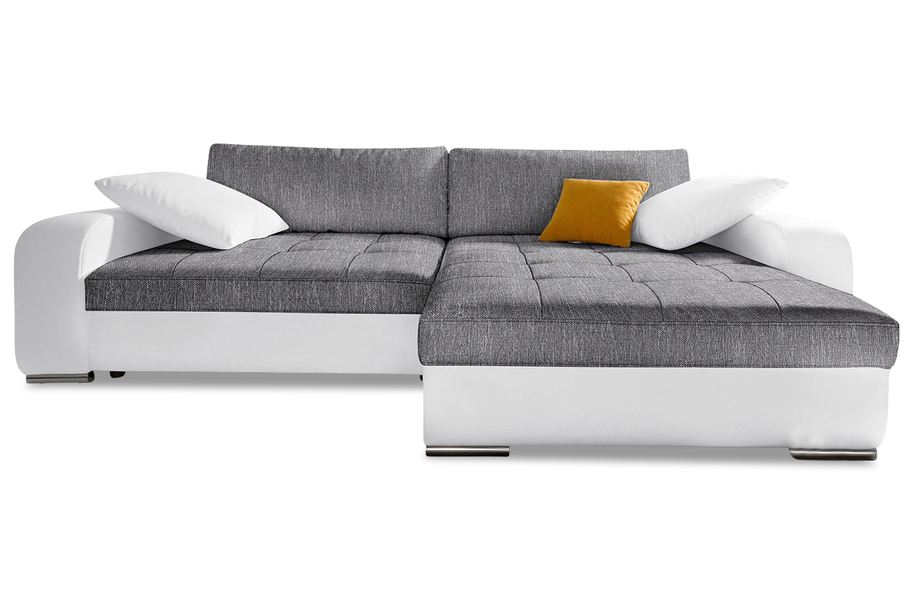 nova via ecksofa heaven mit schlaffunktion anthrazit sofa couch ecksofa ebay. Black Bedroom Furniture Sets. Home Design Ideas