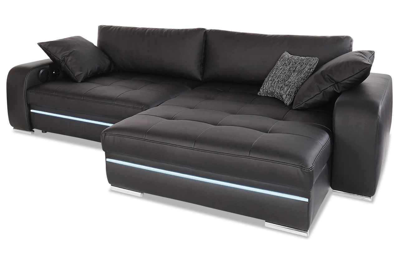 xxl polsterecke heaven mit bett led und sound sofas zum halben preis. Black Bedroom Furniture Sets. Home Design Ideas