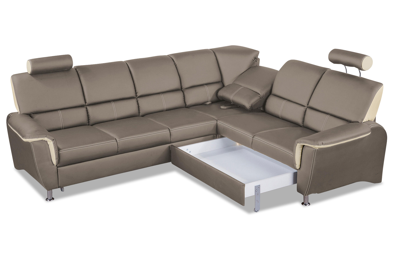 rundecke almeno mit relax und schlaffunktion braun mit federkern sofas zum halben preis. Black Bedroom Furniture Sets. Home Design Ideas