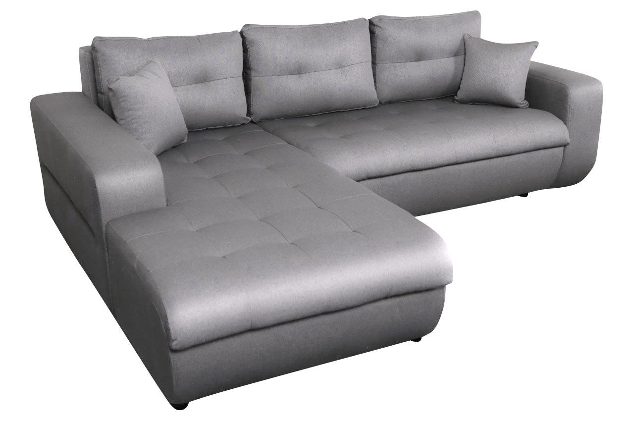 Sofa L-Form Virginia-P links - mit Schlaffunktion - Silber ...