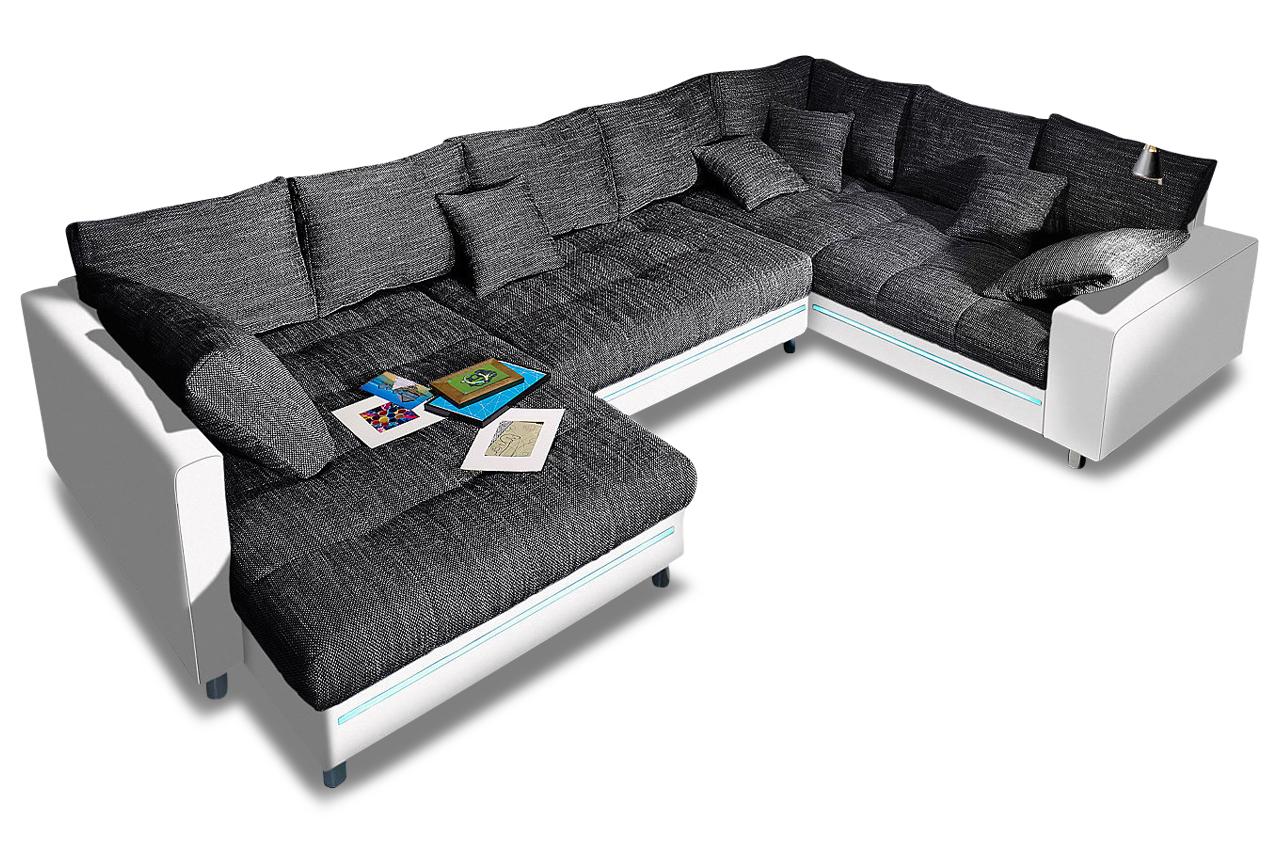 nova via wohnlandschaft tobi anthrazit sofas zum. Black Bedroom Furniture Sets. Home Design Ideas
