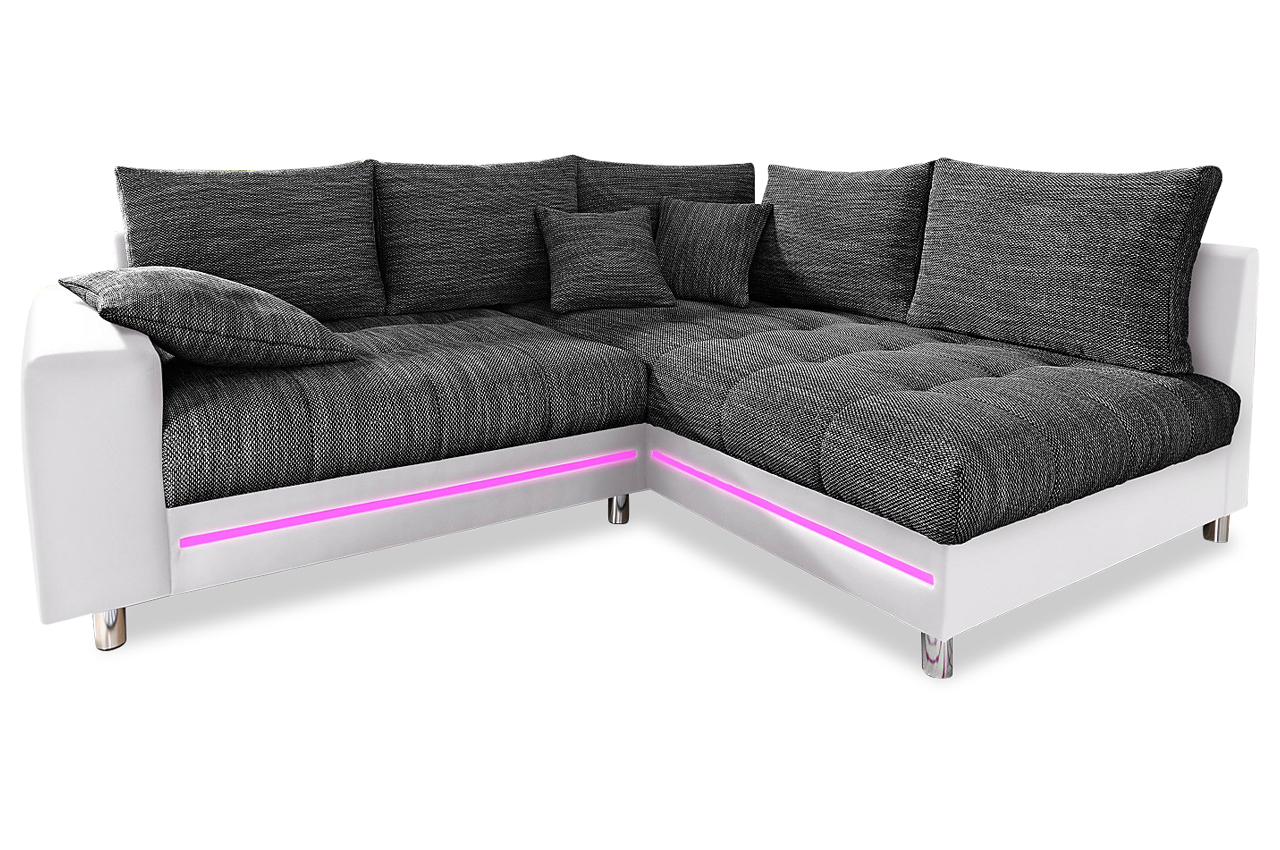 ecksofa xl tobi mit led schwarz sofas zum halben preis. Black Bedroom Furniture Sets. Home Design Ideas