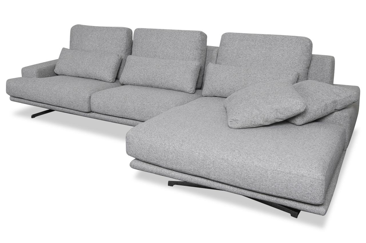 Sofa L-Form Trevi rechts - Grau mit Federkern | Sofas zum ...