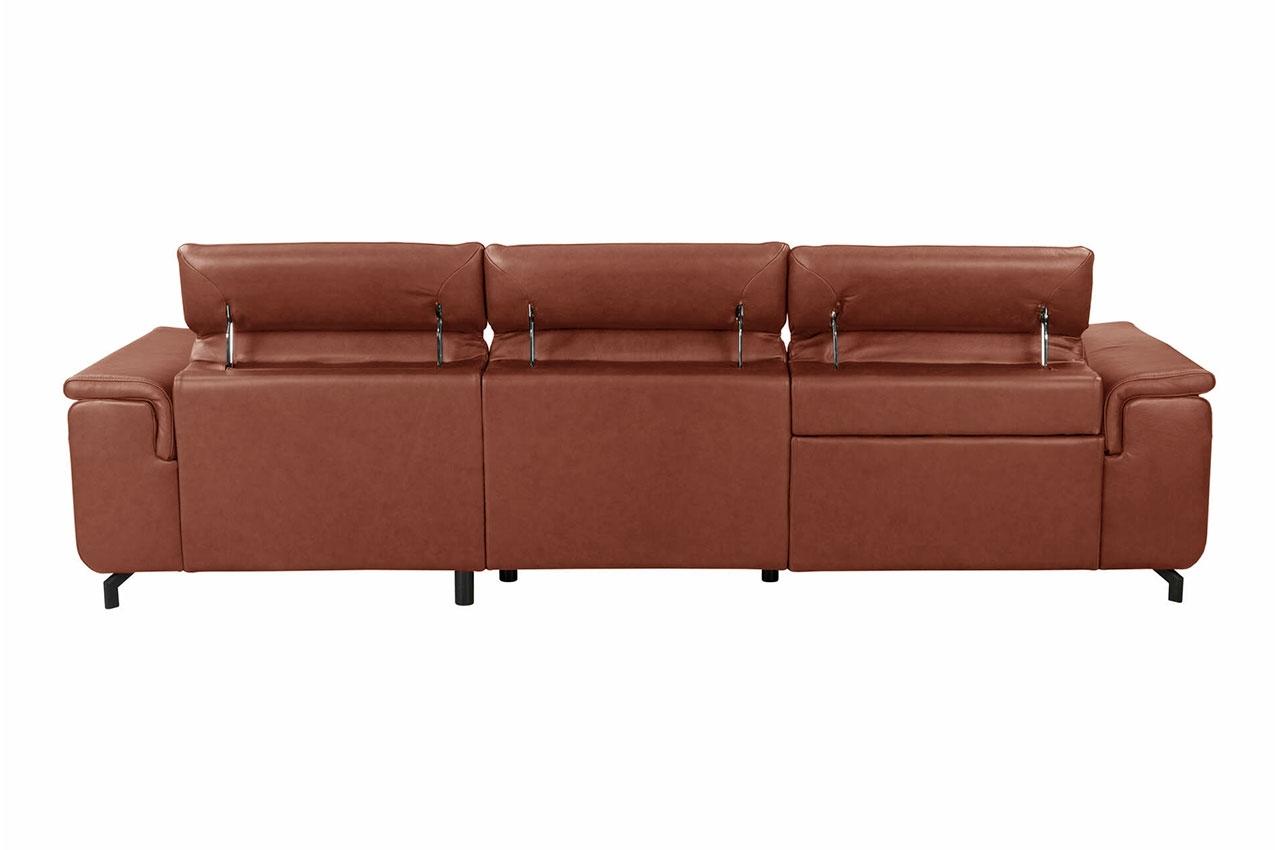 Sofa L-Form Ralph-P rechts - mit Relax - Cognac | Sofas ...