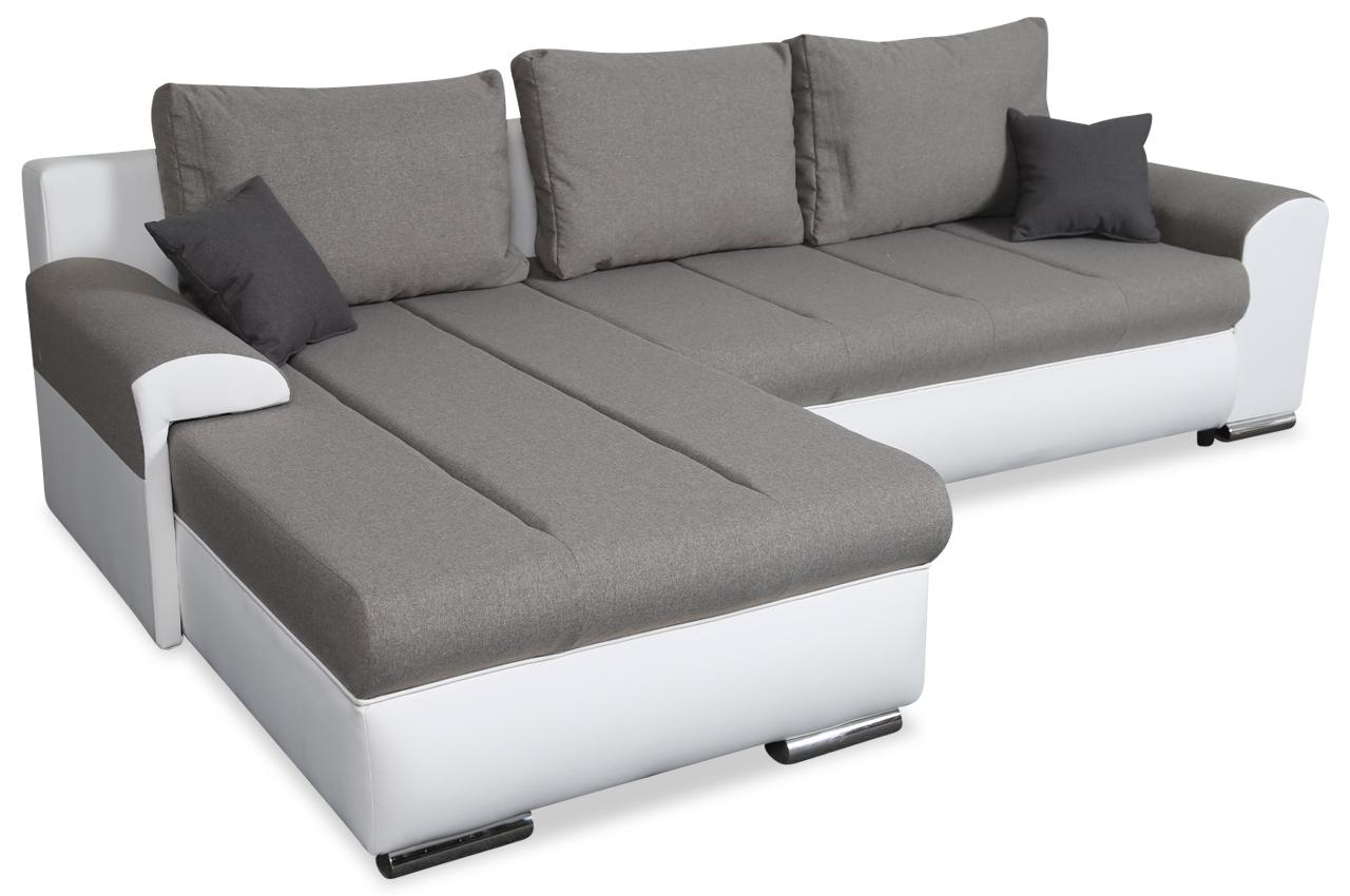Sofa L-Form Indiana -P links - mit Schlaffunktion - Grau ...