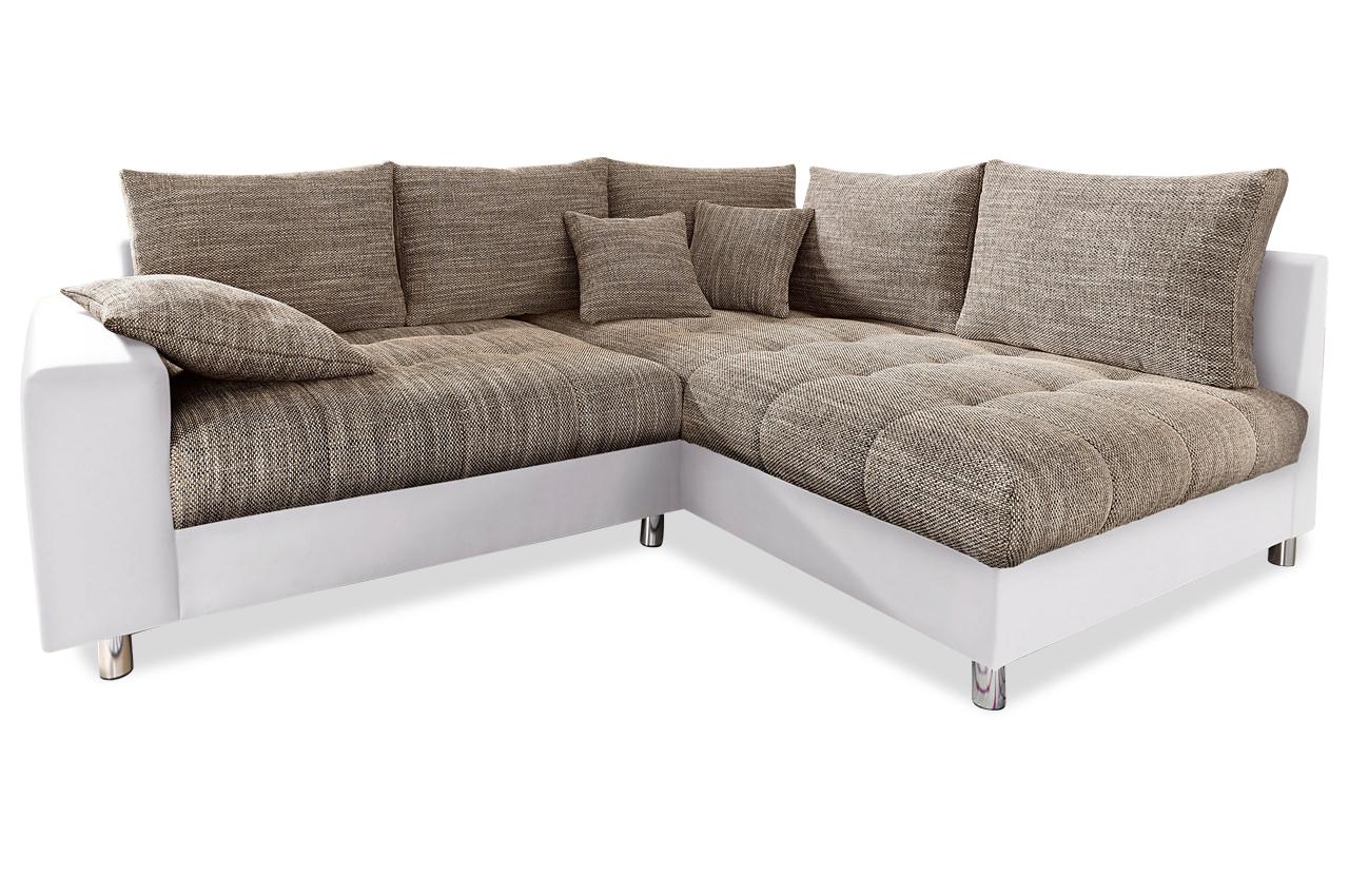 Nova via ecksofa xl tobi braun sofas zum halben preis for Ecksofa xl nikita