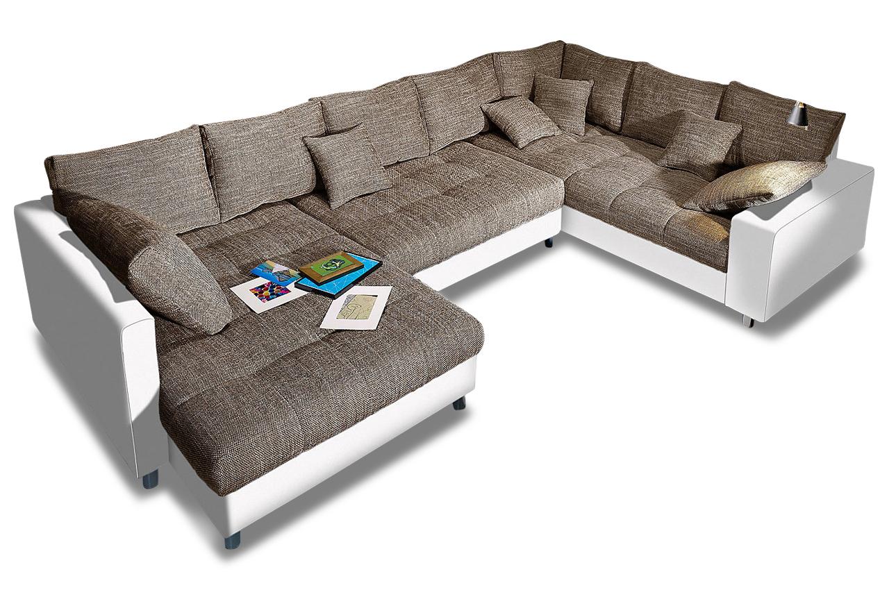 nova via wohnlandschaft tobi mit schlaffunktion braun sofas zum halben preis. Black Bedroom Furniture Sets. Home Design Ideas