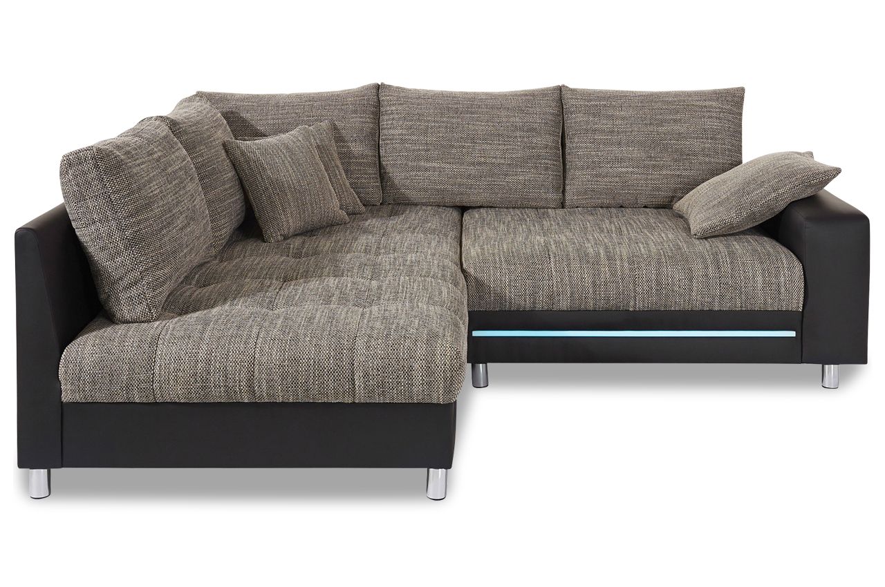 ecksofa xl tobi mit led grau sofas zum halben preis. Black Bedroom Furniture Sets. Home Design Ideas