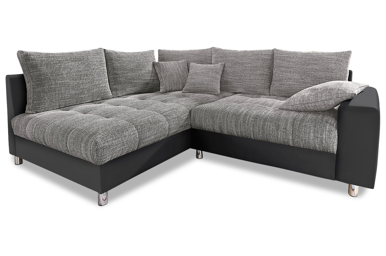 nova via ecksofa xl tobi mit schlaffunktion grau sofas zum halben preis. Black Bedroom Furniture Sets. Home Design Ideas